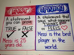 Fact Vs Opinion Anchor Chart Fact And Opinion Anchor Chart By Iris Hinojosa