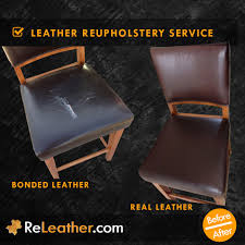 bonded leather bar stool upholstered to real leather