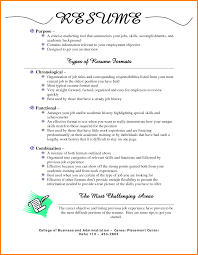 7 Different Types Of Resume Format Pdf Dragon Fire Defense