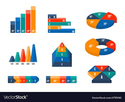 Modern Charts And Graphs Charts Diagrams And Graphs In Modern Isometric 3d