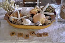 Dough Bowl Decorating Ideas Summer Decorating With Seashells Cottage In The Oaks 68