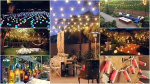 garden party lighting ideas collage lighting backyard party lighting ideas