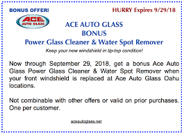 windshield replacement bonus offer