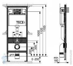 TECE Profil <b>Инсталляция для подвесного унитаза</b> (высота 112 см ...