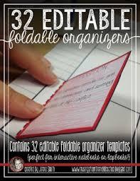 Editable Foldable Templates Editable Foldable Organizer Templates For Interactive Student Notebooks
