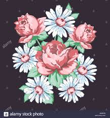 Floral Embroidery Designs Vector Flowers Hand Drawn Floral Embroidery Design Fabric Print