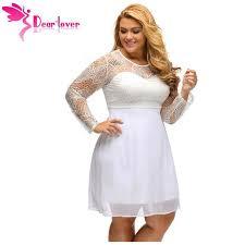 Boohoo Plus Size Chart Dear Lover Womens Plus Size Sweet Lace Black Long Sleeve Boohoo Big Sizes Clothing Skater Dress Vestidos Robe Dentelle Lc22870