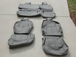 nissan frontier crew cab leather seat covers interior seats 2008 2009 grey