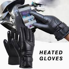 <b>Motorcycle Electric Heated Gloves</b> Windproof Cycling Skiing Warm ...