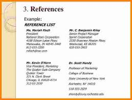 How Do I List References On A Resume Listing References On Your