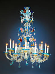 fancy antique glass venetian murano chandelier m s rau