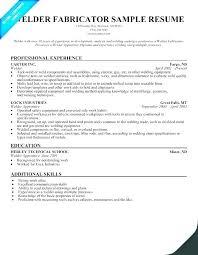 Welder Resume Magnificent Welding Resume Objective Welder Template Professional Examples
