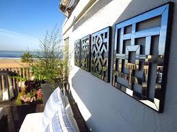 designs outdoor wall art: wall art ideas design  mirrorwallhangingsartdeckoutdoorlivingroomoceanviewmirroredhanging wall art ideas design