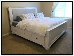 Diy King Platform Bed With Storage Build A Storage Bed Brilliant