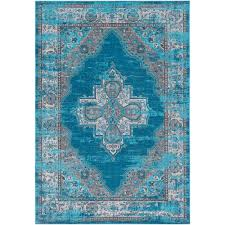 artistic weavers arboleas teal 5 ft x 8 ft area rug