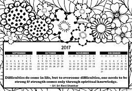 Small Picture Free Printable 2017 Calendar Coloring Pages