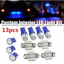 Parts & Accessories <b>13x Blue</b> LED Bulbs Car Interior T10&31mm ...