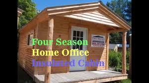 home office cabin. Insulated Four Season Home Office Cabin Kit With Electric Heat R