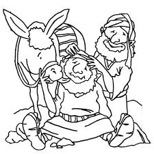 Good Samaritan Coloring Page Good Coloring Page Free Bible Pages The