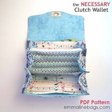 Free Wallet Patterns Mesmerizing Emmaline Bags The Necessary Clutch Wallet PDF