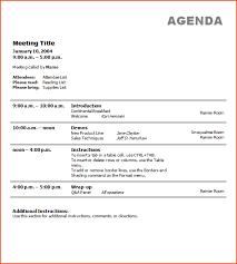 5 Business Agenda Template Bookletemplate Org