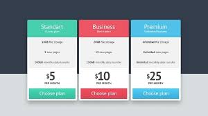 Pricing Table Templates 25 Free Psd Pricing Table Templates Webprecis
