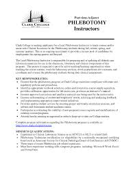 Phlebotomist Resume Examples Phlebotomy Cover Letter Phlebotomy Instructor Resume Sample 16
