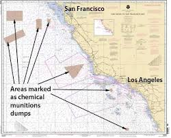 California Nautical Charts Survey Of Supposed Deep Sea Chemical Munitions Dump Off