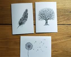 Black And White Greeting Card Black And White Card Etsy