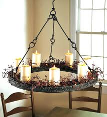 round candle chandelier medium size of within elegant outdoor votive lighting setup