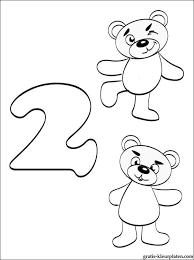 Nummer 2 Kleurplaat Cijfer 2 Twee Gratis Kleurplaten
