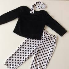 Wolff Fording Size Chart Euc Wolff Black And White Polka Dot Costume