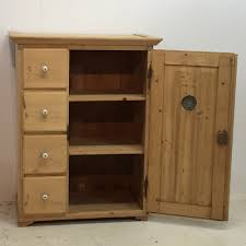 old pine kitchen larder cupboard with 4 drawers