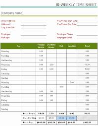 Bi Weekly Time Sheet Biweekly Timesheet Template Excel Fresh Bi Weekly Timesheet Template