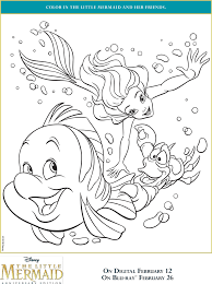Give your children a whole new experience of coloring without sketch of cartoon printable pages available at educationalcoloringpages for free. The Little Mermaid Coloring Pages Free Printables April Golightly
