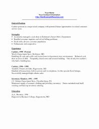 Resume For Cashier Unique Resume Formats Elegant Job Resume Sample