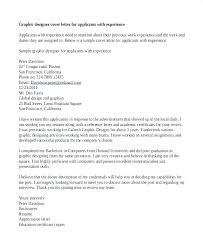 Graphic Designer Cover Letter For Resume Graphic Designer Cover