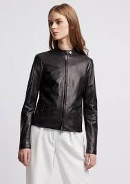 biker jacket in glove like nappa leather