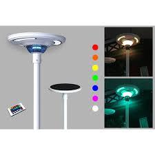 eleding 360 white ufo round solar powered outdoor rgb integrated led area light