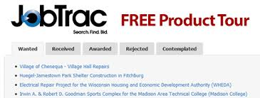 how to find construction jobs to bid on for free jobtrac tour the daily reporter wi construction news bids