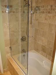 frameless tub shower door model 6008shr semi frameless60 highround glass top corner