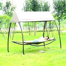 outdoor swing chair patio leisure luxury durable iron garden sleeping with canopy replacement 190 x 115 wooden swing with canopy