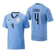 Shirt 2018 Light Varela Blue Uruguay Football World Cup 4 Jersey Guillermo
