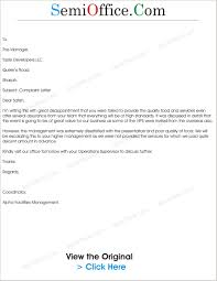 Letter Of Complaint Bad Service Best Plaint Letter Catering And