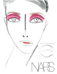 James Face Chart Nancy Girl Nyfw Nars Face Charts From The Shows In