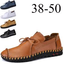 2019 brand new spring and summer leather loafers mens casual slip on shoes fashion handmade soft breathable men s driving shoes