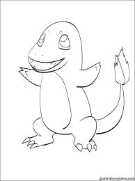Mooie Kleurplaat Pokémon Charmander Gratis Kleurplaten