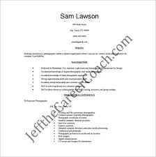 Photographer Resume Template – 10+ Free Word, Excel, Pdf Format ...