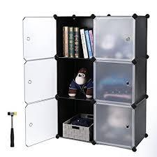 office bookcase with doors. SONGMICS Storage Cube, Plastic Cube Organizer, DIY Modular Closet Cabinet, Bookcase With Doors Office U