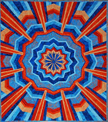Susan Garrity Art Quilts & Blue & Orange Radiance Adamdwight.com